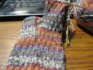 cuff down sock #1