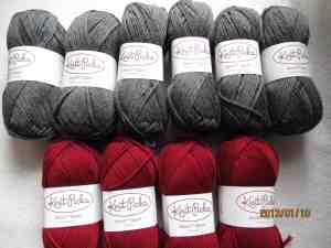 Stroll Sock Yarn--Sport in Cobblestone Heather and Hollyberry